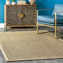 nuLOOM Casuals Hesse Checker Weave Seagrass Area Rug in Natu