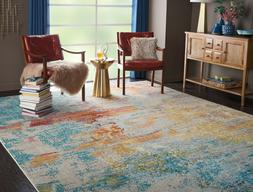 Nourison Celestial Abstract Area Rug Modern Sealife CES02 In