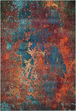 Celestial CES08 Atlantic Area Rug Colorful Contemporary Abst