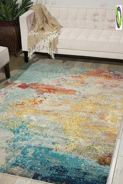 "Nourison Celestial Modern Abstract Area Rug, 6'7"" X 9'7"" , S"