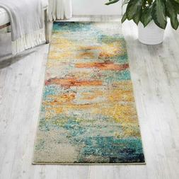 "Nourison Celestial Modern Abstract Area Rug Runner, 2'2"" x 2"