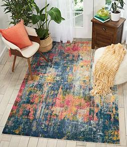 Nourison CES09 Celestial Modern Traditional Area Rug, 5'3 X