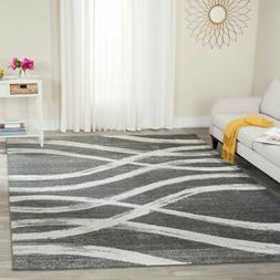 Charcoal / Ivory Safavieh Power-Loomed Area Rugs - ADR125R