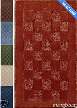 Checkerboard Rectangle Sculpted Area Kitchen/Bath Throw Rug