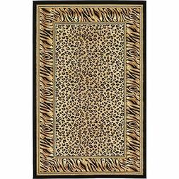 Unique Loom Cheetah Wildlife Area Rug - 5' x 8'