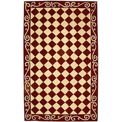 Safavieh Chelsea Collection HK711C Hand-Hooked Burgundy and
