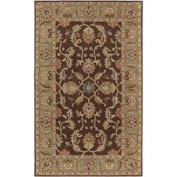 "Art of Knot ""Chena Area Rug, 2' x 4' Hearth, Dark Brown/Came"