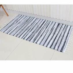 Chindi Rug Reversible Rag Cotton Hand Woven Throw Area Rugs