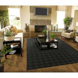 Garland Rug CL020A06008415 Diamond Area Rug, 5x7 , Black