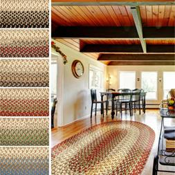 Classic Braided Rug for Indoor / Outdoor Use 2x3 to 10x13 Ov