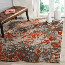 Safavieh Classic Texture Grey / Orange Vintage Area Rug MNC2
