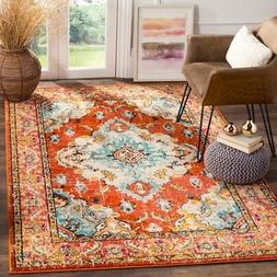 Safavieh Classic Texture Orange / Light Blue Vintage Area Ru