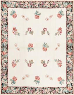 CLEARANCE! All Over Floral Wool Oriental Needlepoint Kilim A