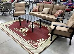 No Returns Reversible Outdoor Rugs 6' x 9' Indoor Patio RV M