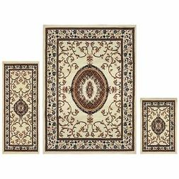 Superior Clementina Collection 3-Piece Rug Set, Attractive R
