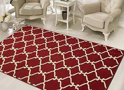 Sweet Home Stores Clifton Collection Red Moroccan Trellis De