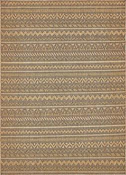 "Outdoor Collection Area Rug - Light Brown 8' x 11' 4""-Feet,"