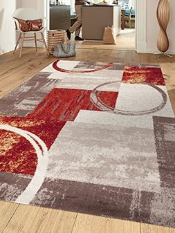 Rugshop Contemporary Abstract Circle Design Soft Indoor Area