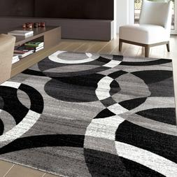 contemporary abstract modern circles soft area rugs