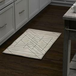 """Rivet Contemporary Area Rug, 1' 8"""" X 2' 10"""", Taupe And Grey"""