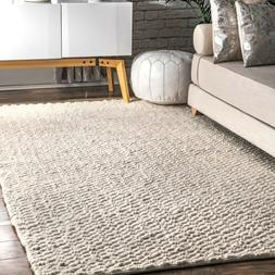 Contemporary Area Rug Hand Woven Solid Chevron Rug Small Lar