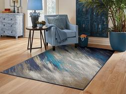 Contemporary Area Rugs 8x10 Blue Gray Living Room Rugs 5x7 D