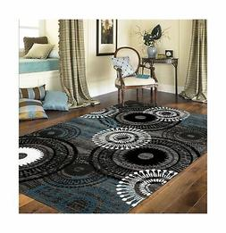 "Rugshop Contemporary Circles Area Rug, 5' 3"" x 7' 3"", Blue/G"