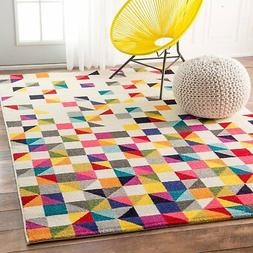 nuLOOM Contemporary Geometric Triangle Mosaic Area Rugs, 5'