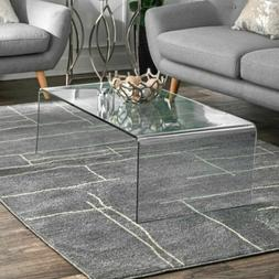 contemporary modern abstract area rug in grey