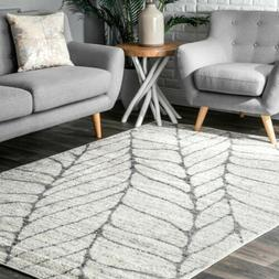 nuLOOM Contemporary Modern Abstract Leaves Design Area Rug i