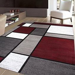 """Rugshop Contemporary Modern Boxes Area Rug, 5' 3"""" x 7' 3"""", R"""