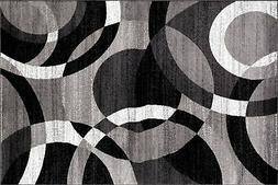 Rugshop Contemporary Modern Circles Abstract Area Rug, 2' x