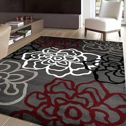 """Rugshop Contemporary Modern Floral Flowers Area Rug, 5' 3"""" x"""