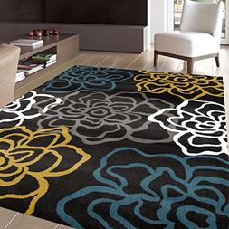"Rugshop Contemporary Modern Floral Flowers Area Rug, 3'3"" x"