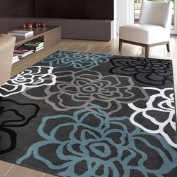 "Rugshop Contemporary Modern Floral Flowers Area Rug, 5' 3"" x"