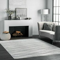 nuLOOM Contemporary Modern Geometric Tristan Area Rug in Gra