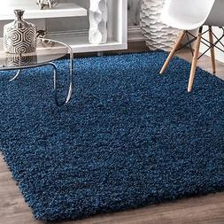 nuLOOM Contemporary Modern Simple Solid Shaggy Area Rug in N