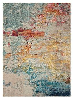 "Nourison Contemporary Rectangle Area Rug 7'10""x10'6"" Sealife"