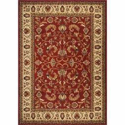 Home Dynamix Contemporary Red-Ivory Heat-Set Rug - Casual -