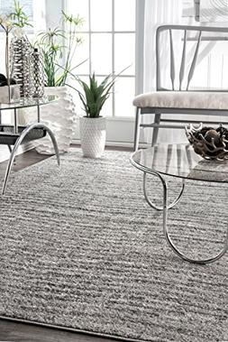 nuLOOM Contemporary Ripple Waves Area Rugs, 2' x 3', Grey