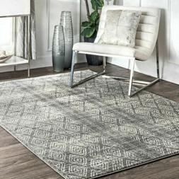 nuLOOM Contemporary Sarina Diamonds Area Rug in Dark Gray