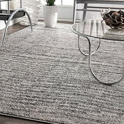 nuLOOM Contemporary Solid Polypropylene Area Rug, 4' x 6'
