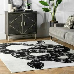nuLOOM Contemporary Thomas Paul Area Rug in Black & White