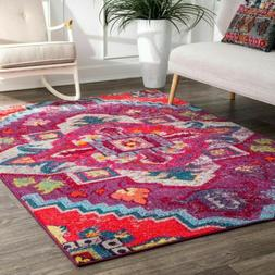 nuLOOM Contemporary Transitional Vintage Bohemian Abby Purpl