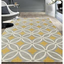 "Rugshop Contemporary Trellis Chain Area Rug, 7'6"" x 9'5"", Gr"