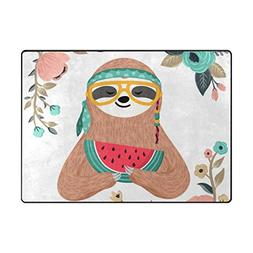 cooper girl cute sloth flowers