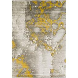 Art of Knot Cornelia Area Rug, Gray/Yellow, 5'2 x 7'6