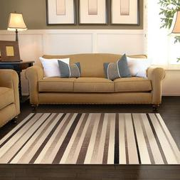 Superior Corona Collection Beige & Brown Striped 4' x 6' Are