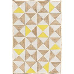 Art of Knot Cottica Area Rug, 8' x 10' Neutral/Yellow