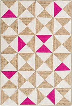 Art of Knot Cottica Area Rug, 2' x 3' Neutral/Pink